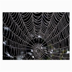 Spider Web Wallpaper 14 Large Glasses Cloth (2 Side) by BangZart
