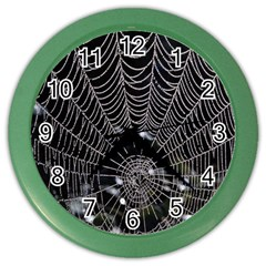 Spider Web Wallpaper 14 Color Wall Clocks by BangZart