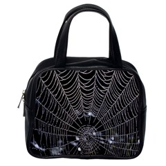 Spider Web Wallpaper 14 Classic Handbags (One Side)