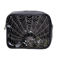 Spider Web Wallpaper 14 Mini Toiletries Bag 2 Side by BangZart