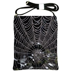 Spider Web Wallpaper 14 Shoulder Sling Bags