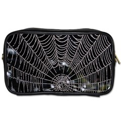 Spider Web Wallpaper 14 Toiletries Bags by BangZart