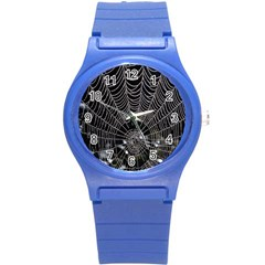 Spider Web Wallpaper 14 Round Plastic Sport Watch (s)