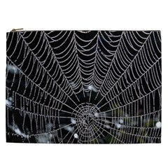 Spider Web Wallpaper 14 Cosmetic Bag (xxl)  by BangZart