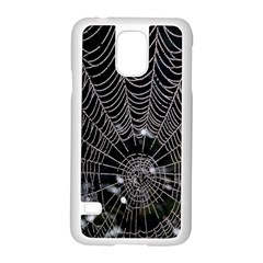 Spider Web Wallpaper 14 Samsung Galaxy S5 Case (white) by BangZart