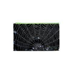 Spider Web Wallpaper 14 Cosmetic Bag (xs) by BangZart
