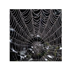 Spider Web Wallpaper 14 Small Satin Scarf (square) by BangZart