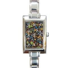 Many Funny Animals Rectangle Italian Charm Watch by BangZart