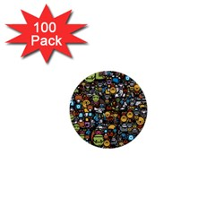 Many Funny Animals 1  Mini Buttons (100 Pack)