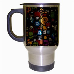 Many Funny Animals Travel Mug (silver Gray) by BangZart