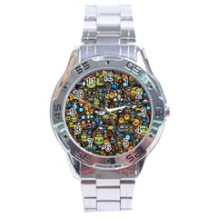 Many Funny Animals Stainless Steel Analogue Watch