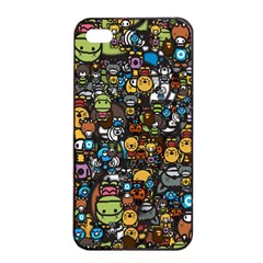 Many Funny Animals Apple Iphone 4/4s Seamless Case (black)