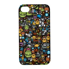 Many Funny Animals Apple Iphone 4/4s Hardshell Case With Stand
