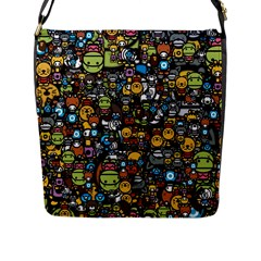 Many Funny Animals Flap Messenger Bag (l)  by BangZart