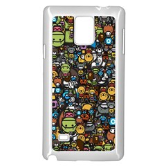 Many Funny Animals Samsung Galaxy Note 4 Case (white)