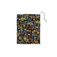 Many Funny Animals Drawstring Pouches (xs)  by BangZart