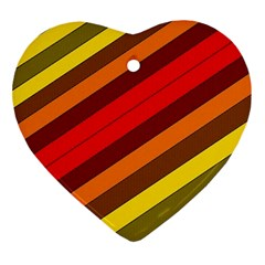 Abstract Bright Stripes Ornament (heart) by BangZart