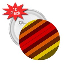 Abstract Bright Stripes 2 25  Buttons (10 Pack)