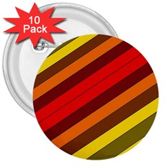 Abstract Bright Stripes 3  Buttons (10 Pack)  by BangZart