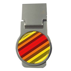 Abstract Bright Stripes Money Clips (round)  by BangZart