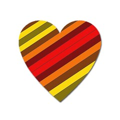 Abstract Bright Stripes Heart Magnet by BangZart