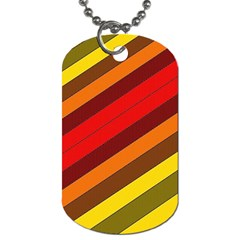 Abstract Bright Stripes Dog Tag (two Sides) by BangZart