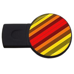 Abstract Bright Stripes Usb Flash Drive Round (2 Gb) by BangZart