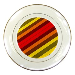 Abstract Bright Stripes Porcelain Plates by BangZart