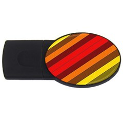 Abstract Bright Stripes Usb Flash Drive Oval (4 Gb)