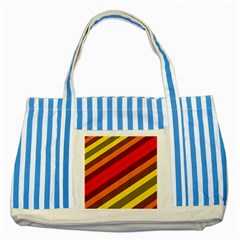 Abstract Bright Stripes Striped Blue Tote Bag by BangZart