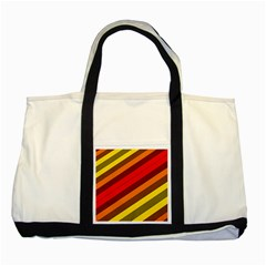 Abstract Bright Stripes Two Tone Tote Bag by BangZart