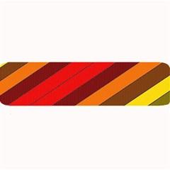 Abstract Bright Stripes Large Bar Mats by BangZart