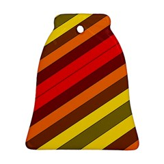 Abstract Bright Stripes Ornament (bell) by BangZart
