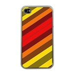 Abstract Bright Stripes Apple iPhone 4 Case (Clear) Front