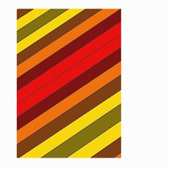 Abstract Bright Stripes Large Garden Flag (two Sides) by BangZart