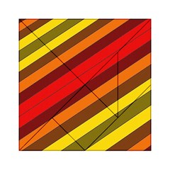 Abstract Bright Stripes Acrylic Tangram Puzzle (6  X 6 )