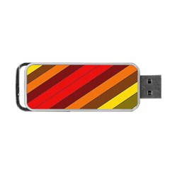 Abstract Bright Stripes Portable Usb Flash (one Side) by BangZart