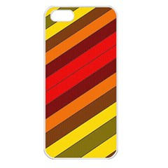 Abstract Bright Stripes Apple Iphone 5 Seamless Case (white)