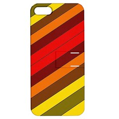 Abstract Bright Stripes Apple Iphone 5 Hardshell Case With Stand by BangZart