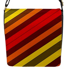 Abstract Bright Stripes Flap Messenger Bag (s) by BangZart