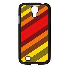 Abstract Bright Stripes Samsung Galaxy S4 I9500/ I9505 Case (black) by BangZart