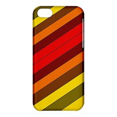 Abstract Bright Stripes Apple Iphone 5c Hardshell Case by BangZart