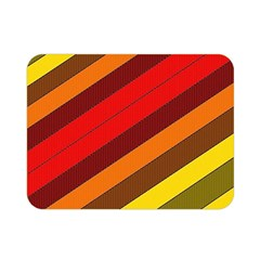 Abstract Bright Stripes Double Sided Flano Blanket (mini)  by BangZart