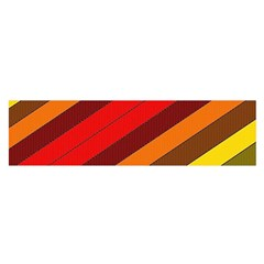 Abstract Bright Stripes Satin Scarf (oblong) by BangZart