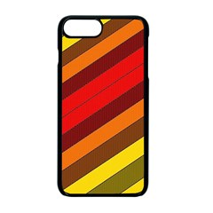 Abstract Bright Stripes Apple Iphone 7 Plus Seamless Case (black) by BangZart