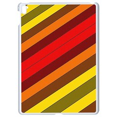 Abstract Bright Stripes Apple Ipad Pro 9 7   White Seamless Case