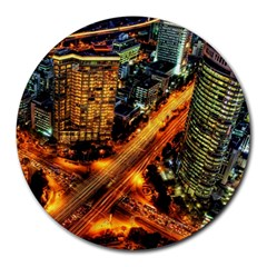 Hdri City Round Mousepads by BangZart