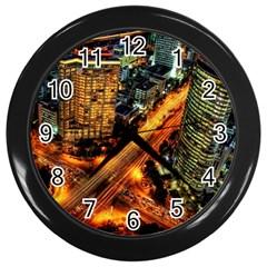 Hdri City Wall Clocks (black)