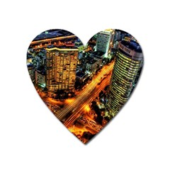 Hdri City Heart Magnet by BangZart