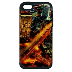 Hdri City Apple Iphone 5 Hardshell Case (pc+silicone)